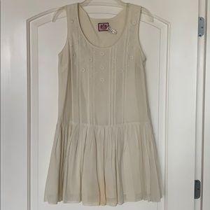 juicy couture white boho dress size 0